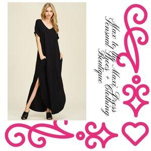 Dresses & Skirts - Max to the Maxi Black Dress